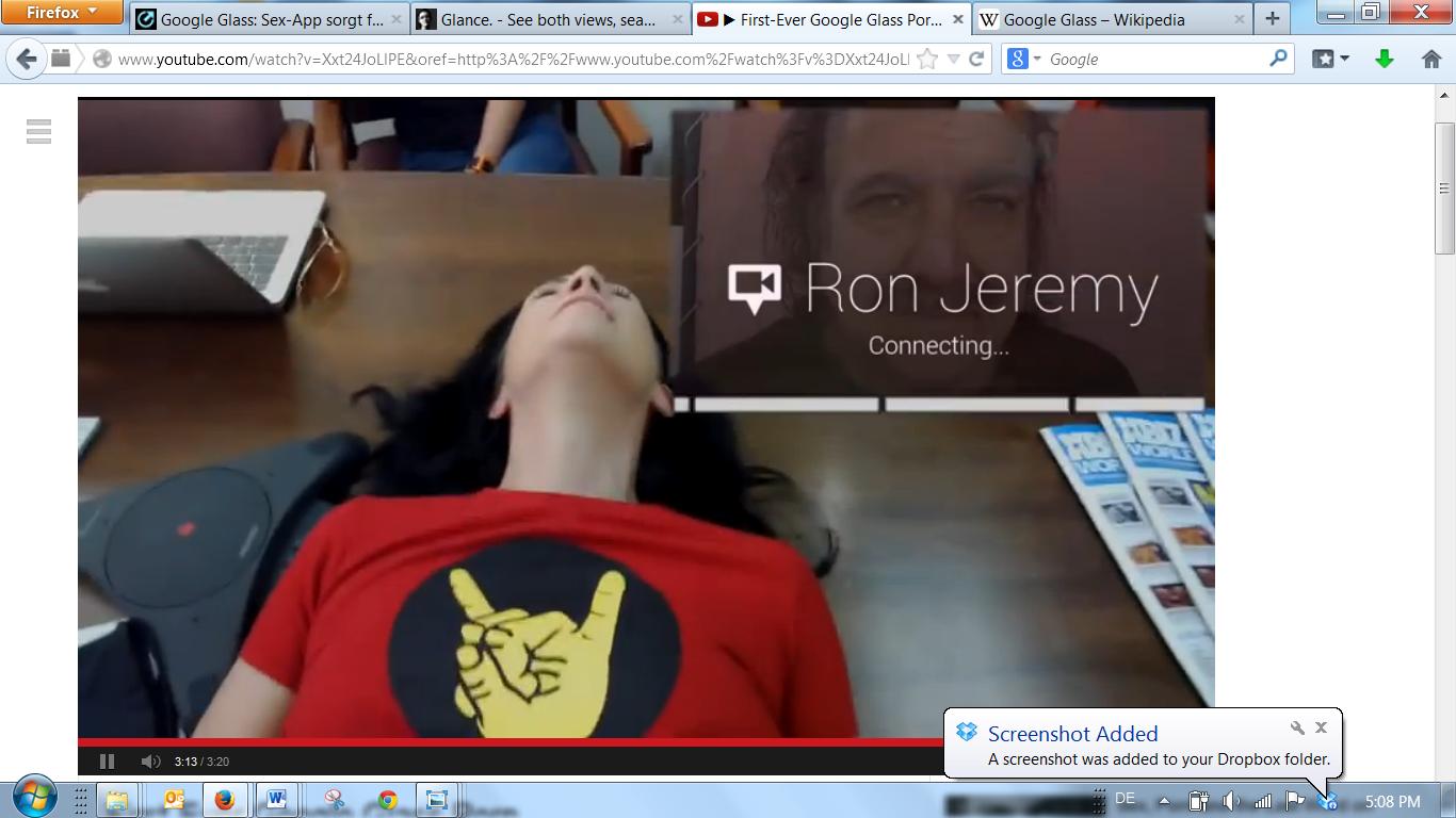 Da schiebt man gerade ein Nümmerchen, da wählt sich Ron Jeremy live ein - top!