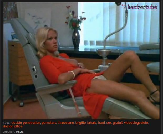 keine lümmelt so schön wie Brigitte Lahaie. Foto: Screenshot